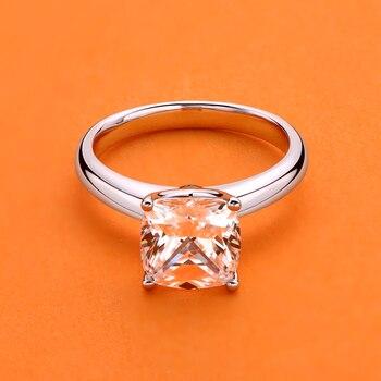 AINUOSHI 925 Sterling Silber 3.0ct Kissen Cut Solitaire Engagement Ring Simulierte Diamant Silber Hochzeit Ringe Schmuck