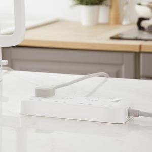Image 4 - الأصلي شاومي ZMI 18 واط قطاع الطاقة 6 مآخذ التيار المتناوب [3 خمسة/اثنين حفرة] 2 USB الذكية الناتج قطعة واحدة النحاس ترقية السلامة