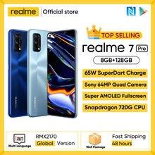 Realme 7 Pro Global Versie Smartphone 65W Snelle Lading Vingerafdruk Unlock Fullscreen Mobilephone Snapgragon 720G Game Mobiel