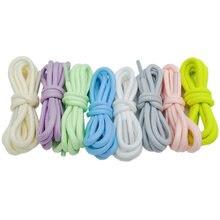 Coolstring спортивные светящиеся круглые шнурки флуоресцентные