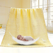 6-layer Solid Color Baby Bath Towel 100% Cotton Newborn Child Water Absorption Blanket Wrap Bedding Body Care Towels