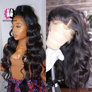 Image 2 - 360 Lace Frontal Wig Brazilian Body Wave Wig 13x4 Lace Front Human Hair Wigs For Black Women Mstoxic Remy Hair 4x4 Closure Wigs