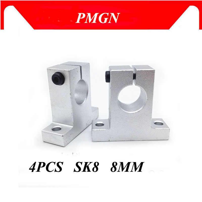 4 PCS SK30 Metal Linear Rail Shaft Support Unit FOR XYZ Table CNC Route 30mm