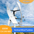 New vertical wind turbine high efficient 400W 600W 12V 24V 1.5M start up 250RPM no noise for home use