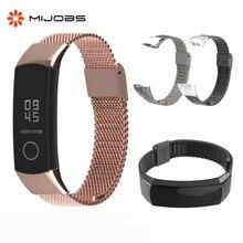 Металлический ремешок для Honor Band 3, браслеты из нержавеющей стали для Huawei Honor 3 Band 4, ремешок для часов Honor Band 4