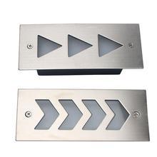 Светодиодный напольный светильник, водонепроницаемый настенный светильник, угловой светильник для двора, коридора, 3 Вт, светодиодный светильник для подземных светильников, сигнальный светильник из нержавеющей стали
