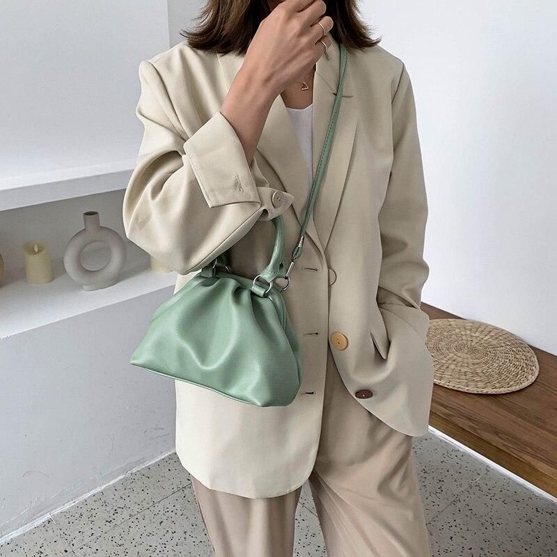 Элегантные женские сумки из натуральной кожи Для женщин высокое качество кожаные сумки через плечо для девушек; Для женщин; Водонепроницаемый защита от солнечных лучей в виде листка лотоса Клецки сумка 2020 Новый Сумки с ручками      АлиЭкспресс