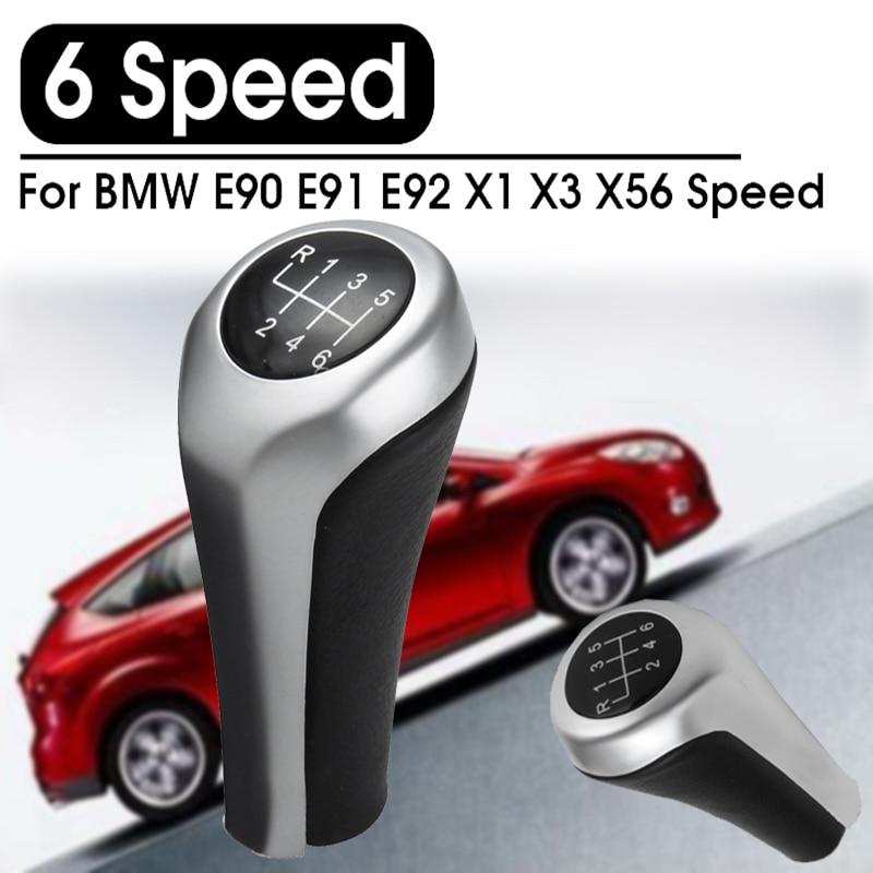 Car 6 Speed Gear Shift Knob Gear Head Shifter Knob Head 25117566267 Replacement For BMW E46 E81 E82 E87 E90 E91 E92 X1 X3 X5