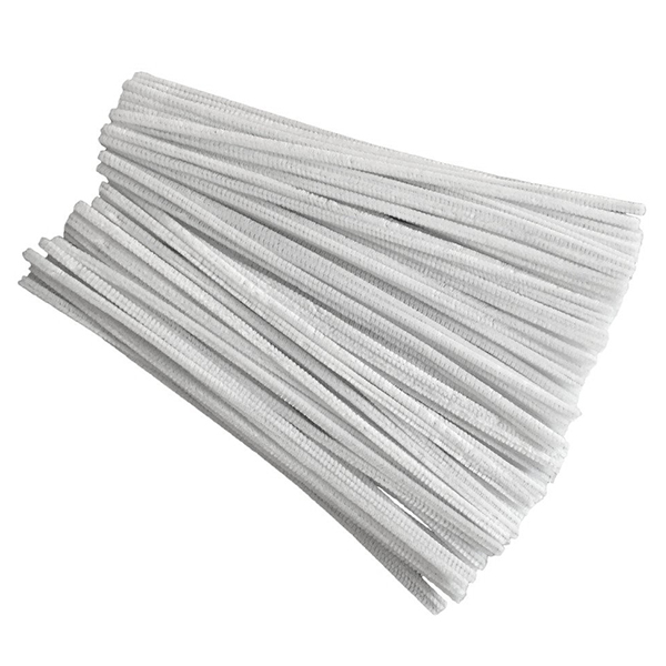 100 Pcs 30cm Creation Pipe Cleaners, White