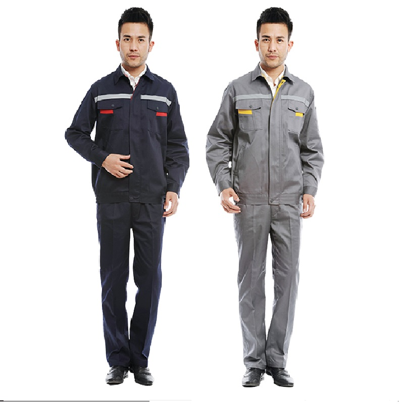 Worker Clothing Workwear Clothes Set Male Factory Uniform Clothes Long-sleeved Overalls Suit  Autumn And Winter Reflective Strip