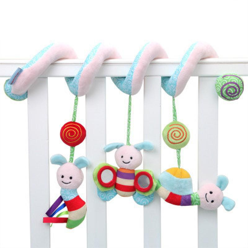 Baby Early Learning Baby Stroller Surrounded By Plush Spiral Cute Animal Crib Toy Cognitive Favorite Active Rattle