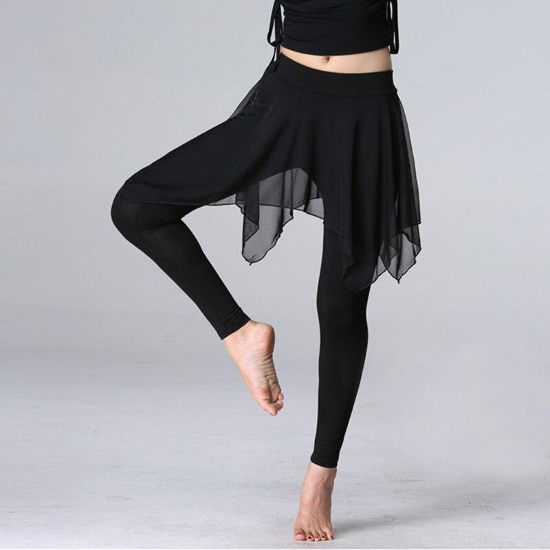 Belly Dancing Pant Latin Dance Pant Skirt Modal Training Pant Dress Irregular Latin Dance Trousers For Women