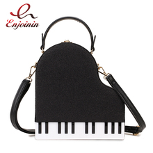 Fashion Piano Style Ladies Box Shape Party Handbag Shoulder Bag Purses Pu Leather Female Crossbody Bag for Women Designer Bag