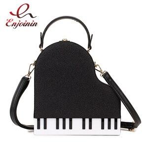 Image 1 - Fashion Piano Style Ladies Box Shape Party Handbag Shoulder Bag Purses Pu Leather Female Crossbody Bag for Women Designer Bag