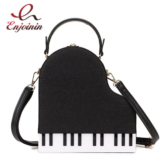 Fashion Piano Style Ladies Box Shape Party Handbag Shoulder Bag Purses Pu Leather Female Crossbody Bag for Women Designer Bag