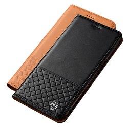 На Алиэкспресс купить чехол для смартфона genuine leather phone bag card holder case for oppo realme ace 2/realme c3/realme x/realme 6/realme 6 pro magnetic flip cover