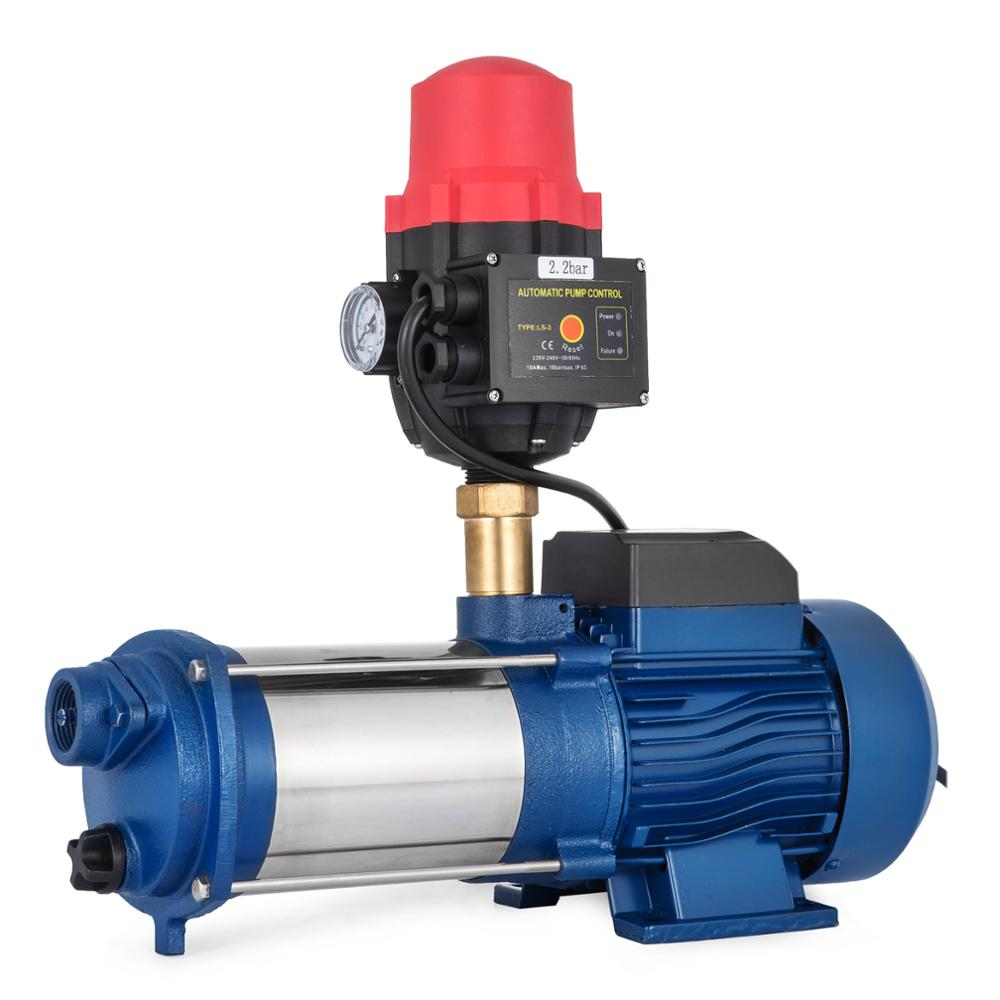 VEVOR Ip44 Centrifugal Pump With Pressure Switch Centrifugal Jet Water Pump For Garden Irrigation Stainless Steel Case Protect