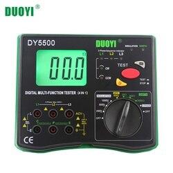 DUOYI DY5500 4 в 1 Цифровой Многофункциональный тестер сопротивления мультиметр изоляция вольтметр заземления измерительный индикатор фазы
