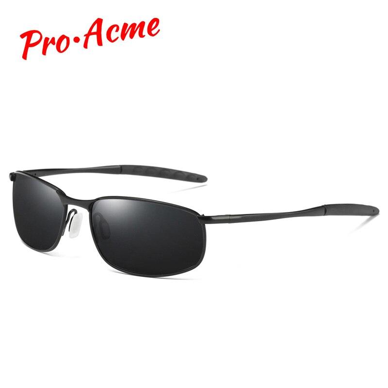 Pro Acme marque lunettes de soleil hommes polarisées Rectangle revêtement conduite lunettes miroir Sport lunettes de soleil gafas de sol hombre PA0926