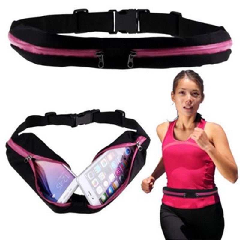 Belt Bag Pack Waist Packs Running Jogging Cycling Belt Pouch Sports Fanny Pack Universal Dual Pocket New Waist Bum Bag Waist
