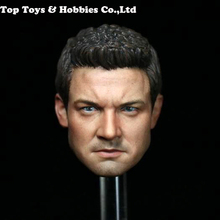 цена на 1/6 jeremy renner Head Sculpt  Male Figure Head Captain America Civil War hawkeye Headplay 12 Action Figure Collection Toys