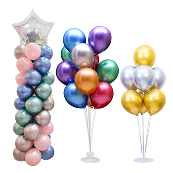 7 Tubes Balloons Stand Balloon Holder Column Confetti Balloon Baby Shower Kids Birthday Party Wedding Decoration Supplies