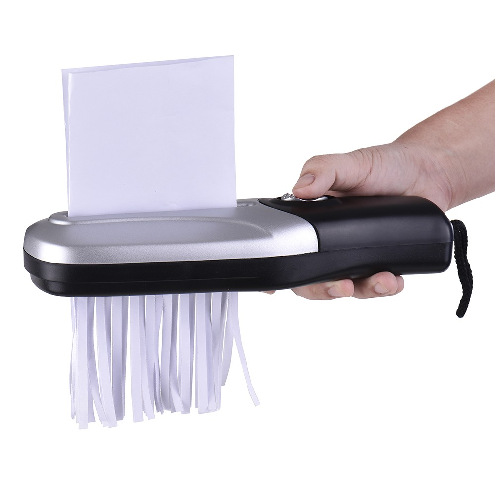 Portable Handheld Paper Shredder Cutter A6 Folded A4 Strip Cut USB/Batteries Operated Cutting Machine Tool For Office School
