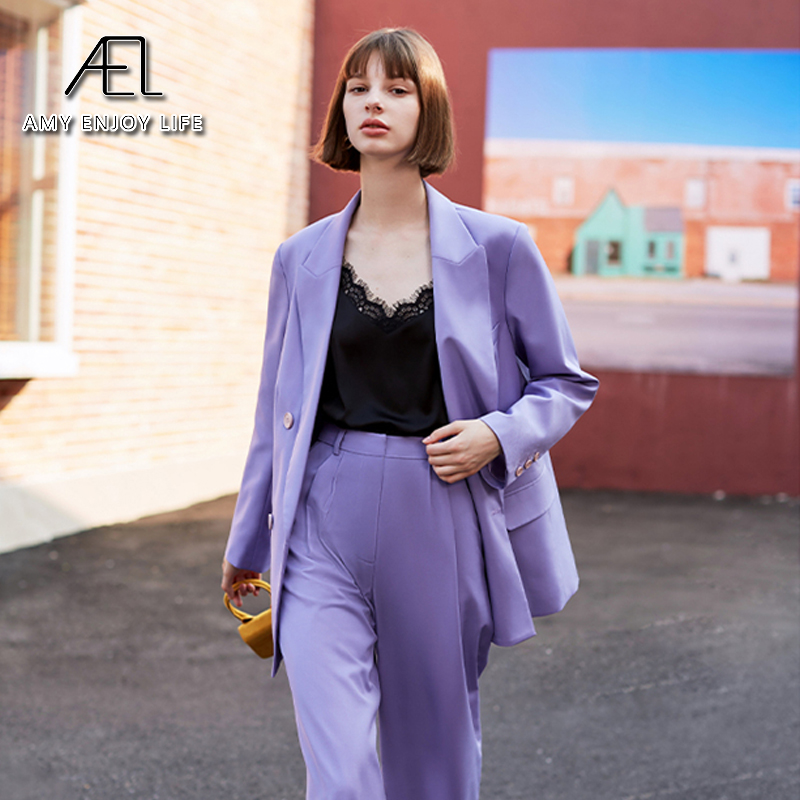 Женский блейзер AEL, осенне весенний блейзер с отложным воротником|Пиджаки|   | АлиЭкспресс - Блейзеры