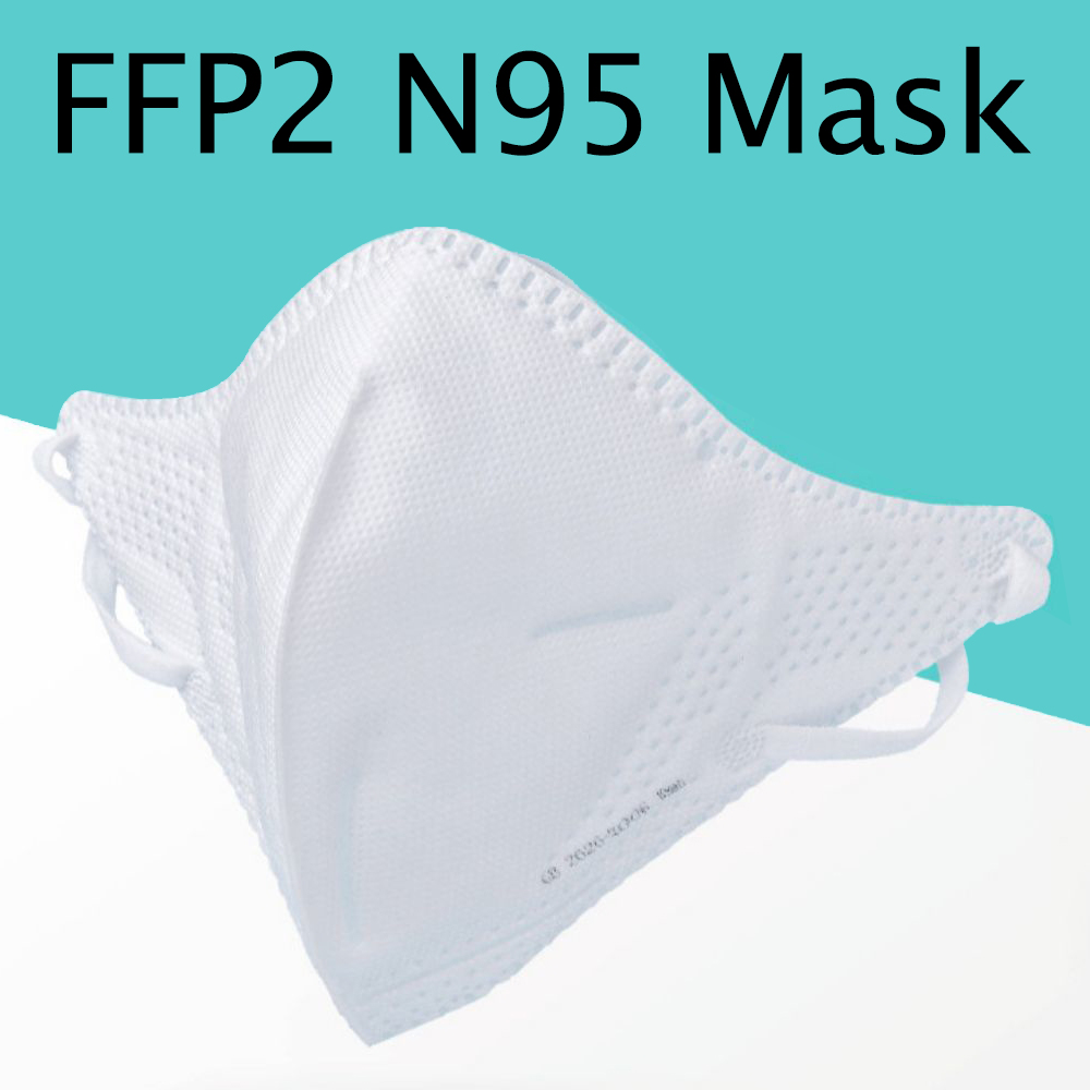 FFP2 N95 Meltblown Cloth Non Disposable Reusable Mask 95% Filter Dust PM2.5 Particulate Pollution Respirator KN95 Earloop Masks