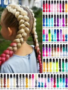 Crochet Twist Synthetic-Hair-Extension Jumbo Braiding Kanekalon-Hair Miss-Rola Ombre-Color