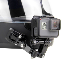 SOONSUN Front Side Helmet J shaped Buckle Base Support Adhesive Mount for GoPro Hero 9 8 7 6 5 4 3 for DJI Osmo Action Accessory