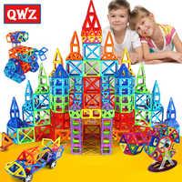 QWZ 184pcs-110pcs Mini Magnetic Designer Construction Set Model & Building Toy Plastic Magnetic Blocks Educational Toys Gifts