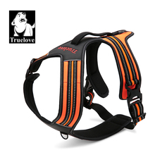 TRUE LOVE Dog harness Nylon Reflective Handle Soft Padded No-Pull Pet Vest Outdoor Adventure Pet Vest with Handle