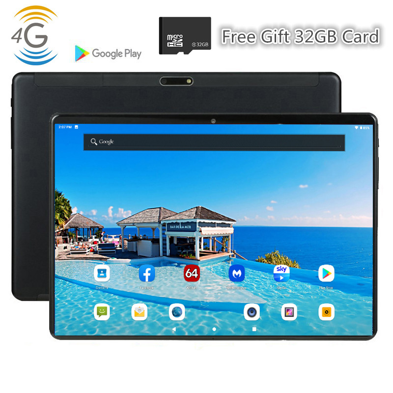 CARBAYTA 4G LTE MID PC Global Bluetooth Wifi Phablet Android 9.0 10 Inch Tablet MTK Core Dual SIM Card 2.5D Tablet 9 10 CE Band