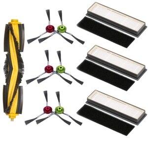 Ролик боковая щетка губка Комплект фильтров для Ecovacs Deebot OZMO 950 920 пылесос Запчасти, 1XRoller щетка, 3XFilters, 3XSponges,