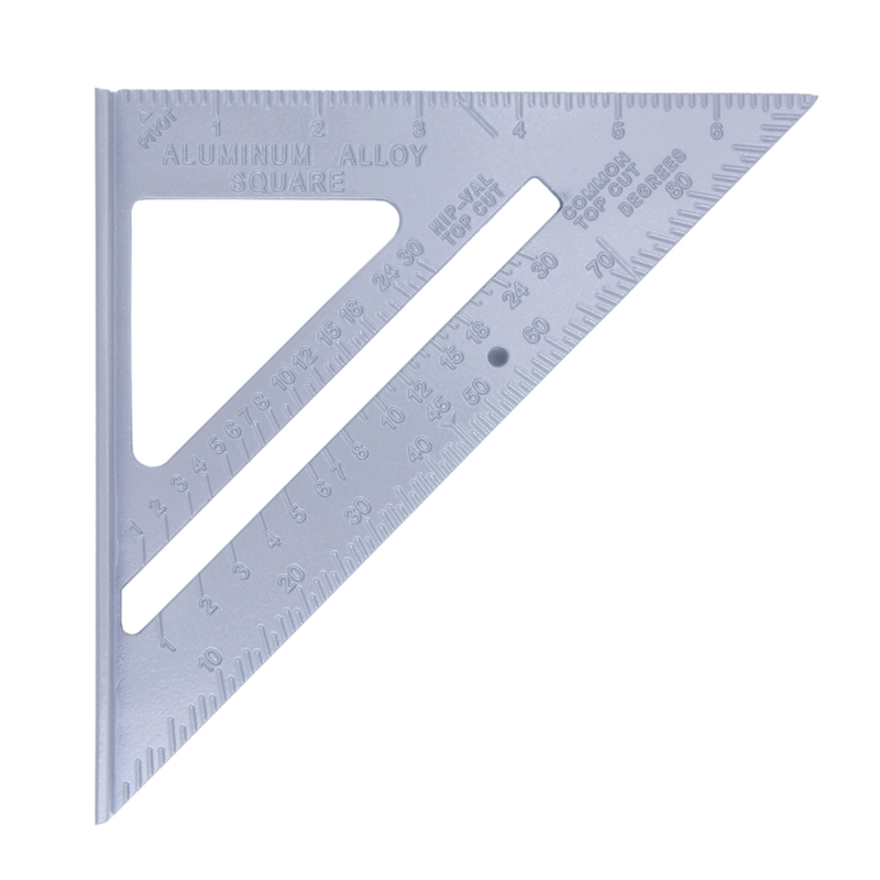 185*185*260mm Speed Square Protractor Miter Framing Measurement Ruler For Carpenter Silver