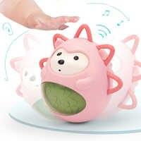 Cartoon niedlichen igel beißring tumbler balance ausdruck vocal glocken komfort kinder sinne spielzeug lustige geschenk Tiere