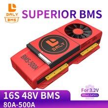 Ventilateur lifepo4 BMS 16S 48V 3.2V 80a 100a 18650 a 250a, batterie au Lithium, chargeur, panneaux solaires, onduleur
