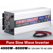 Pure Sine Wave inverter 8000W 5000W 6000W DC12V 24V to AC220V 50Hz 60Hz inverter power Converter For Car Voltage transforme