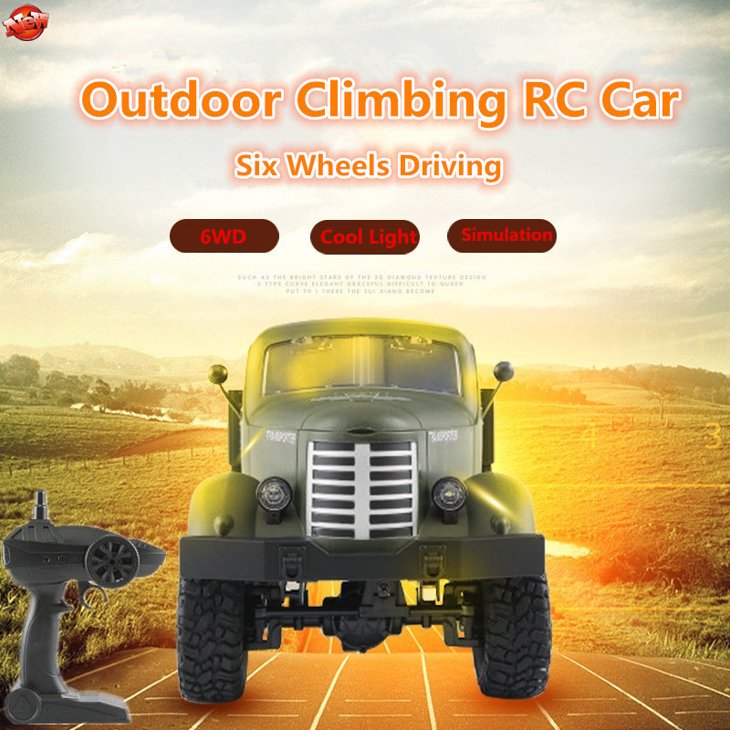 Outside Remote Control RC Car <font><b>1</b></font>:16 2.4G Remote Control Car <font><b>6</b></font> Wheels 6WD Tracked Off-Road Military RTR remote control RC car toys image