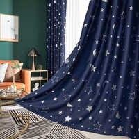 Panel Star Blackout cortinas Para dormitorio Sala de estar Cortina de La habitación Del chico La Cortina Del Apagon Cortina Para Sala