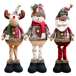 Christmas Ornaments Santa Claus Snowman Reindeer Doll Home Decorations Window Decorations Christmas New Year 2021 Toys For Kids