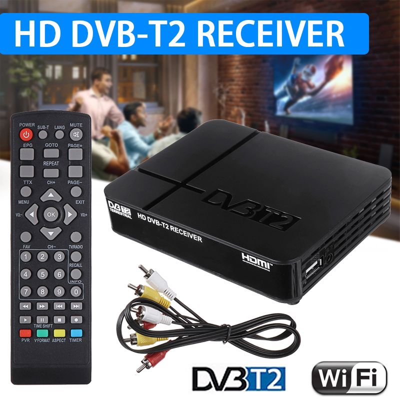 1SET TV Box Video Receiver Mini HD DVB-T2 K2 WiFi Terrestrial Receiving Device TV Boxs Multi-media Play Channel Receive
