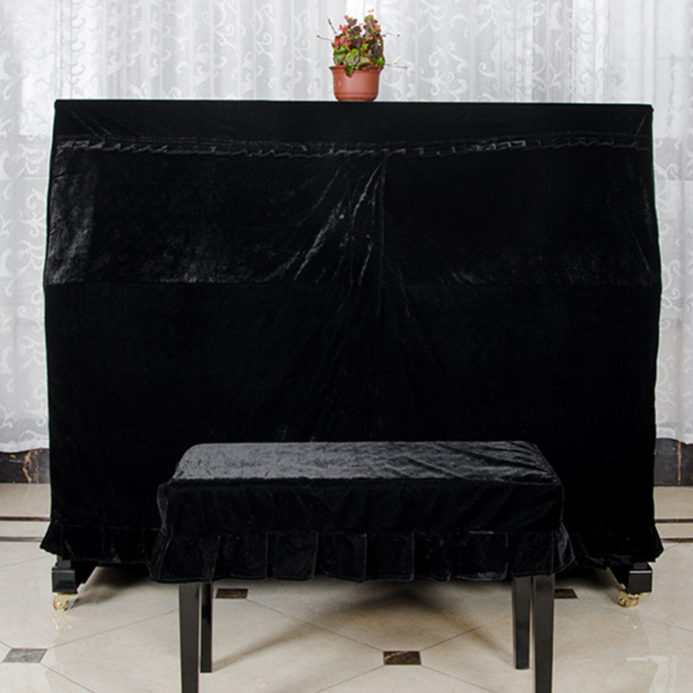 Durable Soft Velvet Decorated Piano Cover Macrame Hand Wash Practical Home With  Cover Dust-Proof Protective Anti-scratch