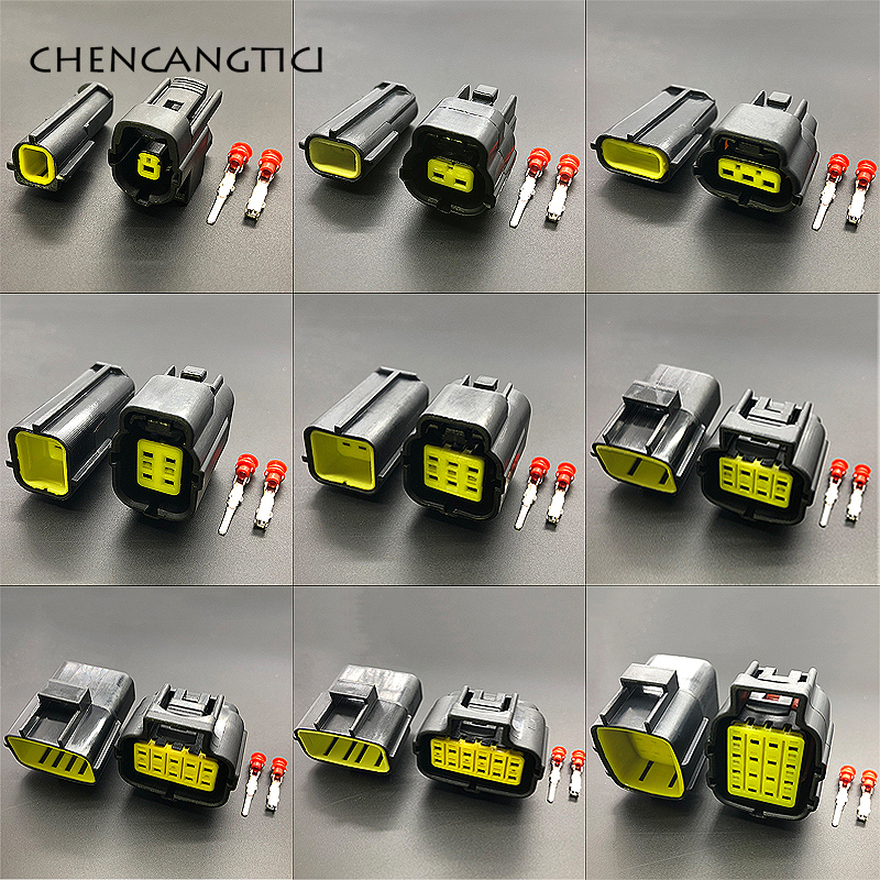 1 Juego de 1 2 3 4 6 8 10 12 16 pines forma Denso conector de cable impermeable enchufe eléctrico coche Auto sellado arnés de camión