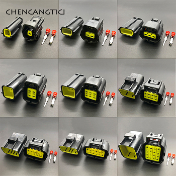 1 set pc 1 2 3 4 6 8 10 12 16 pins way Denso Waterproof Wire Connector Electrical Plug Car Auto Sealed Truck Harness Socket deutsch dtm 2 3 4 6 8 10 12p male female auto waterproof connector with pins terminals automotive sealed plug