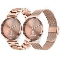 2PCS Mesh & Soild Edelstahl Armband für Garmin Vivomove HR 3 3S / Vivoactive 4 4S 3 / Venu Luxe Stil Uhr Band Strap
