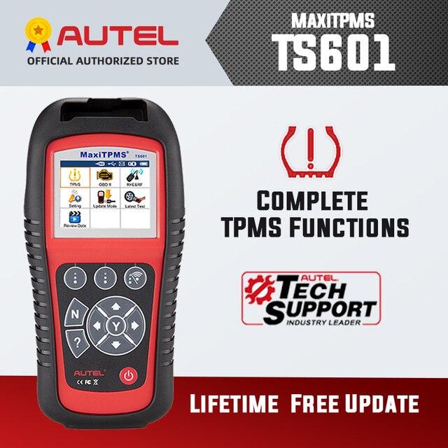 Autel MaxiTPMS TS601 OBDII 진단 도구 OBD2 스캐너 TPMS 프로그래머 자동 코드 Reaser TPMS 모니터 도구 433MHz 315MHz 센서