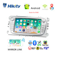 Hikity 2 din Car Radio 7 Android 8.1 Car Multimedia Player GPS WIFI Autoradio IOS Android Mirrorlink for Ford Focus Car Stereo