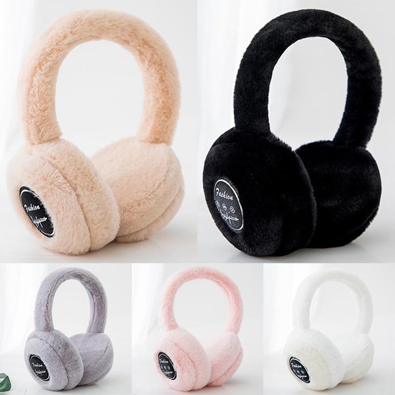 Newest Winter Unisex New Cute Hair Colorful Earmuffs Earwarmers Ear Muffs Earlap Fashion Women Girl Warmer Winter Headband